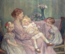 Madame van de Velde and her Children (Theo van Rysselberghe) - Muzeo.com