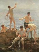 Midsummer Morning (Tuke Henry Scott) - Muzeo.com