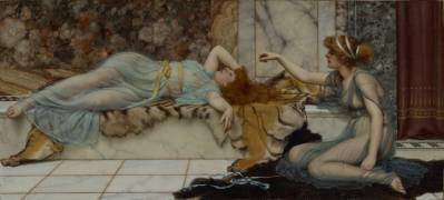 Mischief and Repose (John William Godward) - Muzeo.com