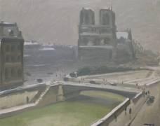 Notre-Dame in the Snow (Albert Marquet) - Muzeo.com