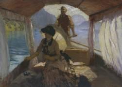 On Lake Lucerne (Giuseppe de Nittis) - Muzeo.com