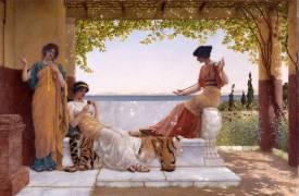 On the Balcony (John William Godward) - Muzeo.com