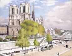 Paris, the Seine and Notre-Dame (Albert Marquet) - Muzeo.com