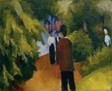 Park with Pond (August Macke) - Muzeo.com