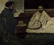 Paul Alexis Reading a Manuscript to Emile Zola (Paul Cézanne) - Muzeo.com