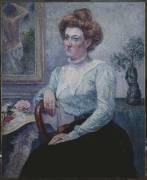 Portrait de madame Feneon (Maximilien Luce) - Muzeo.com