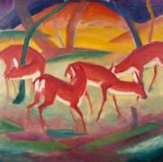 Red Deer 1 (Franz Marc) - Muzeo.com
