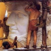 Roman Sculptors (Lawrence Alma-Tadema) - Muzeo.com