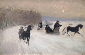 Sleigh Ride (Giuseppe de Nittis) - Muzeo.com