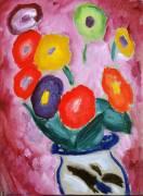 Still Life : Flower Pot on the Corner of the Table (Alexej Von Jawlensky) - Muzeo.com