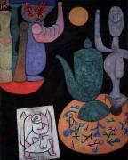 Still Life on black background (Paul Klee) - Muzeo.com