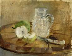 Still Life with a Cut Apple and a Pitcher (Berthe Morisot) - Muzeo.com