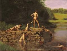 Swimming Hole (Thomas Eakins) - Muzeo.com