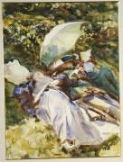 The Green Parasol (John Singer Sargent) - Muzeo.com