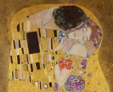 The Kiss (detail) (Gustav Klimt) - Muzeo.com
