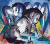 Two Horses (Franz Marc) - Muzeo.com