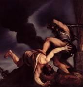Cain taunting Abel (Tiziano) - Muzeo.com