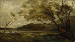 Arbres près d'un étang (Jean-Baptiste Camille Corot...) - Muzeo.com