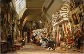Atelier d'un artiste (Eugène Giraud) (Giraud Sébastien Charles) - Muzeo.com