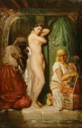 Bain au sérail (Chasseriau Théodore) - Muzeo.com