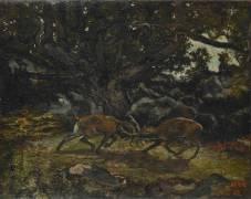 Combat de cerfs (Antoine Louis Barye) - Muzeo.com