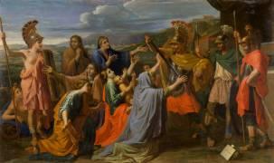 Coriolan vaincu par sa femme et sa mère (Nicolas Poussin) - Muzeo.com