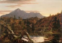 Autumn Twilight, View of Corway Peak (Thomas Cole) - Muzeo.com