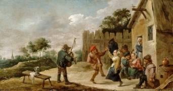 Danse au son de la cornemuse (Teniers David le Jeune) - Muzeo.com