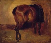 Etude de cheval bai vu de derrière (Théodore Géricault) - Muzeo.com