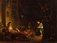 Femmes d'Alger dans leur intérieur (Eugène Delacroix) - Muzeo.com