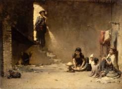 Intérieur à Bou-Saâda - scène orientale (Gustave Guillaumet) - Muzeo.com