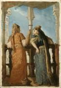 Juives au balcon, Alger (Théodore Chasseriau) - Muzeo.com