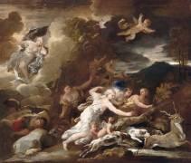 La chasse de Diane (Luca Giordano) - Muzeo.com