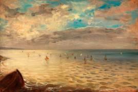 La Mer vue des hauteurs de Dieppe (Eugène Delacroix) - Muzeo.com