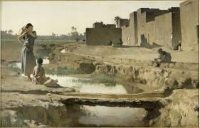 La Séguia, près de Biskra (Gustave Guillaumet) - Muzeo.com