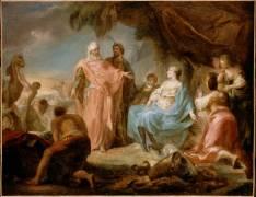 Laban cherchant ses idoles (Saint-Aubin Gabriel Jacques de) - Muzeo.com