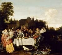 Le festin champêtre (Hals Dirck) - Muzeo.com