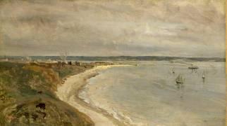 Le Havre. La Mer vue du haut des falaises. (Jean-Baptiste Camille Corot) - Muzeo.com