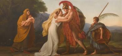 Le Retour du guerrier (Girodet Anne-Louis) - Muzeo.com