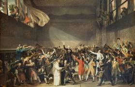 Le serment du jeu de Paume, le 20 juin 1789 (David Jacques Louis (attribué...) - Muzeo.com