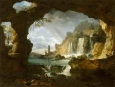 Les cascatelles de Tivoli (campagne de Rome) (Vernet Joseph) - Muzeo.com