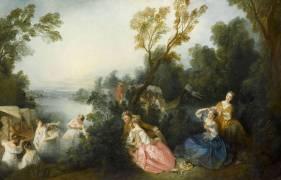 Les Plaisirs du bain (Lancret Nicolas) - Muzeo.com