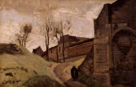 Les remparts d'Arras, porte Saint-Michel (Jean-Baptiste Camille Corot) - Muzeo.com