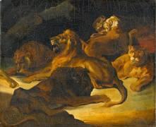 Lions couchés (anonyme) - Muzeo.com