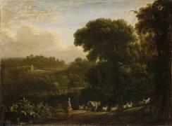 Paysage au soleil couchant (Le Lorrain Claude (dit)...) - Muzeo.com