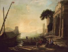 Port de mer au soleil levant (Le Lorrain Claude (dit)...) - Muzeo.com