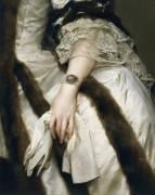 Portrait of Marie Caroline of Austria (detail) (Anton Raphaël Mengs) - Muzeo.com
