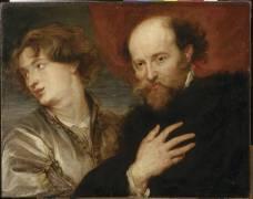 Portrait de Rubens et de Van Dyck (,D'après Van Dyck Antoon) - Muzeo.com