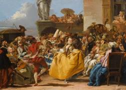 Scène de carnaval ou Le menuet (Tiepolo Gian Domenico) - Muzeo.com