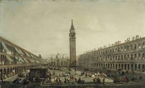 Vue de la place Saint Marc à Venise (Canaletto Antonio (école de)) - Muzeo.com